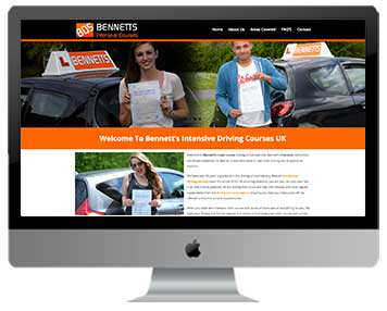 driving school website design