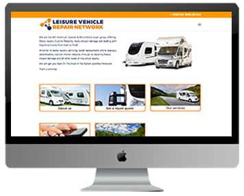 caravan repairs web design