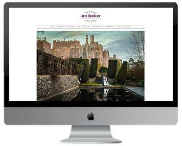 wedding photography web design