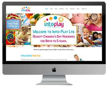 childrens nursery website design