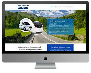 caravan sales website design