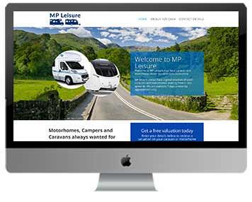 caravan sales website design